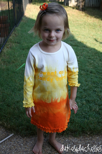 Halloween dress made with RIT dye