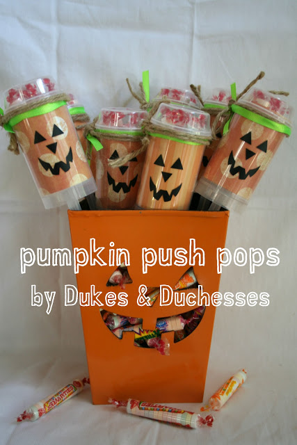 Smarties Pumpkin Push Pops