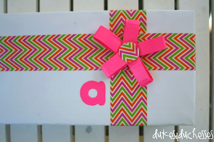easy duct tape gift wrap