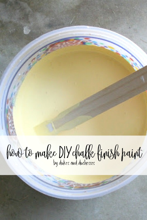 how to make DIY chalk finish paint