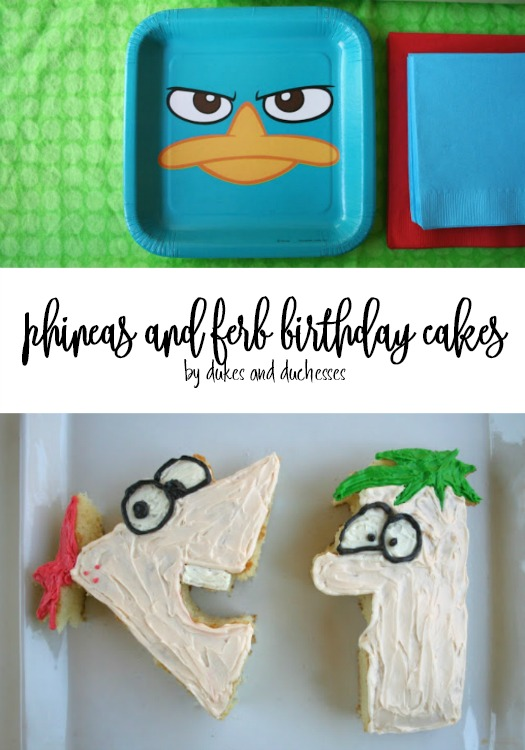 phineas and ferb birthday cakes