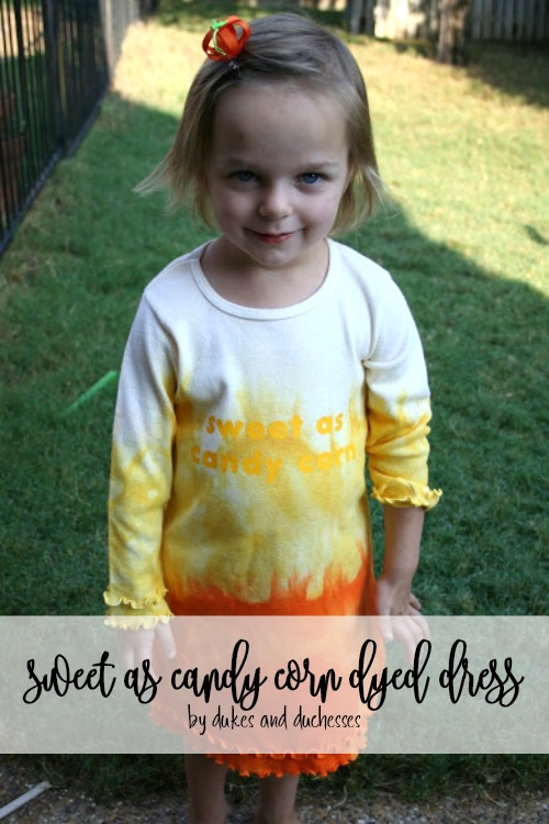 sweet as candy corn dyed dress