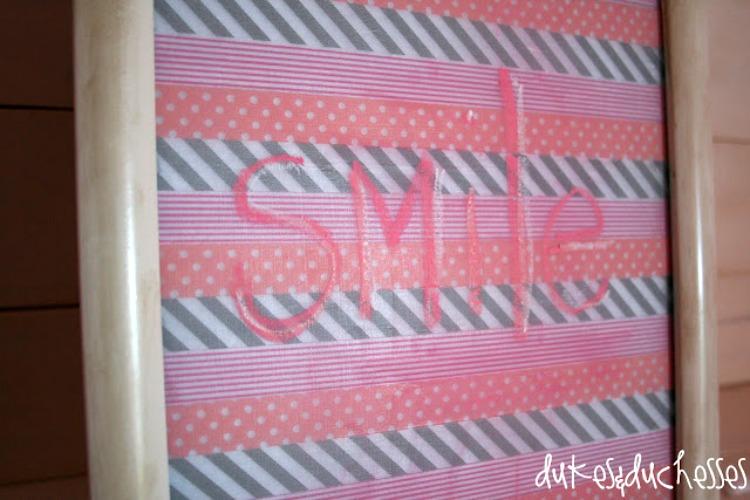washi tape chalkboard made with clear chalkboard coating