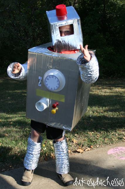 upcycled robot Halloween costume