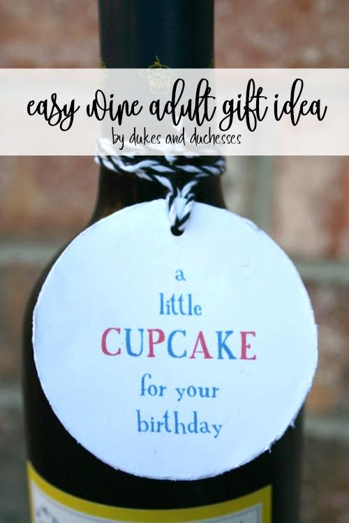 easy wine adult gift idea