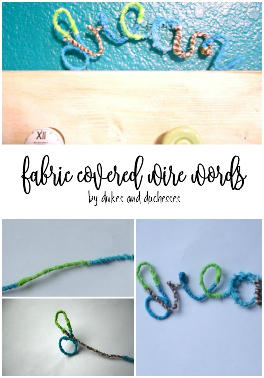 Fabric Covered Wire Words - Dukes and Duchesses