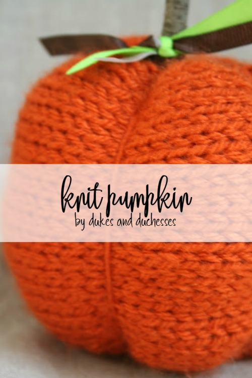 knit pumpkin