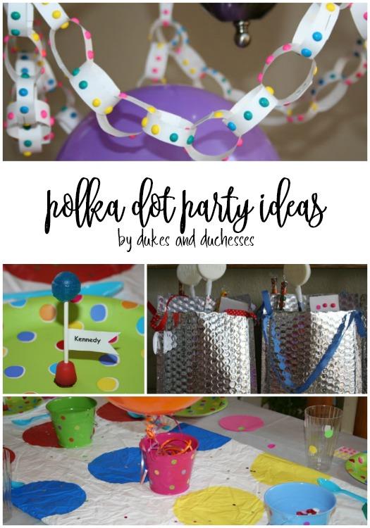 polka dot party ideas