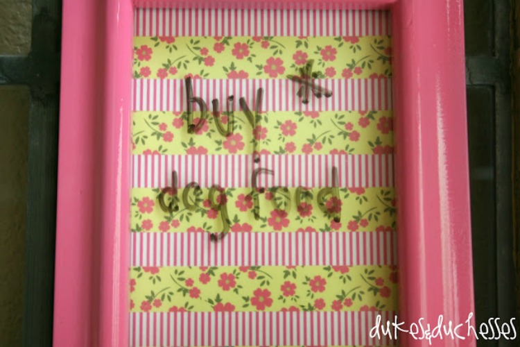 washi tape dry erase board craft project