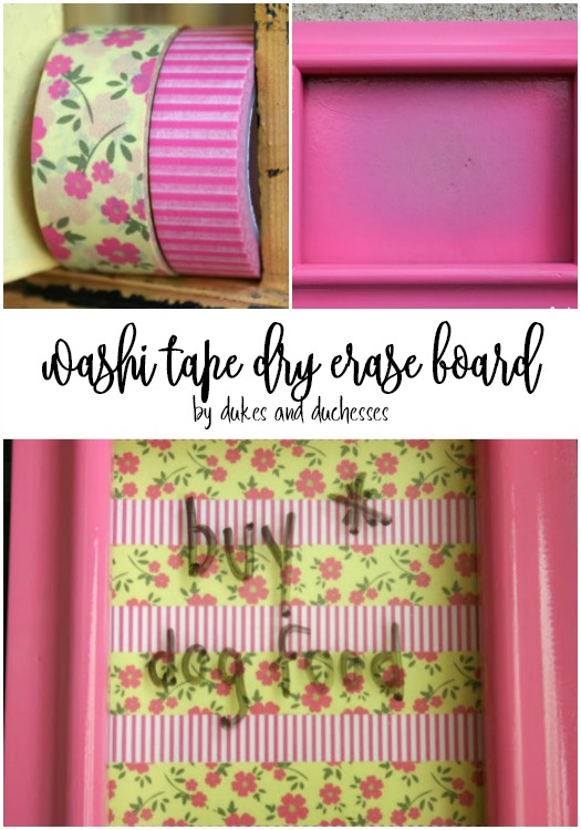 washi tape dry erase board