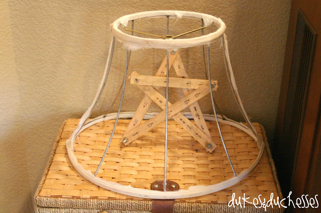 vintage lampshade as home decor