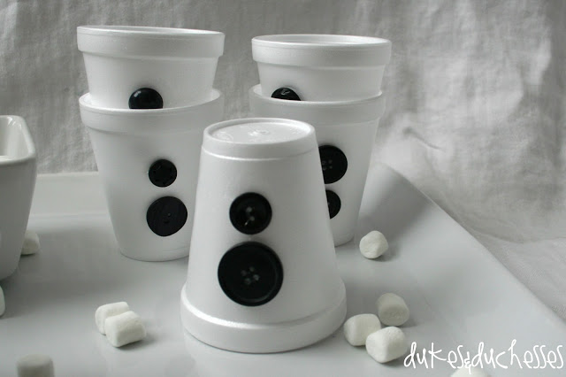 snowman hot cocoa bar
