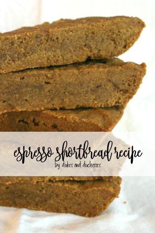 espresso shortbread recipe
