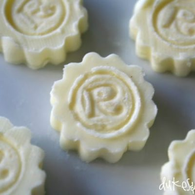 Mini Monogrammed Butter Pats