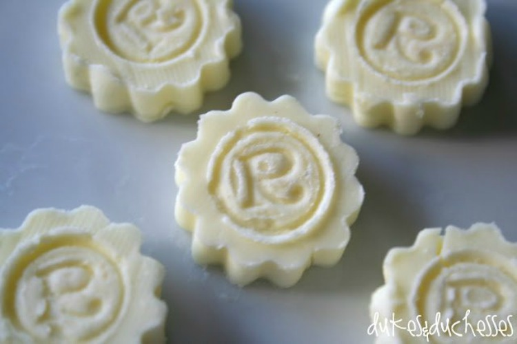 monogrammed butter pats for thanksgiving