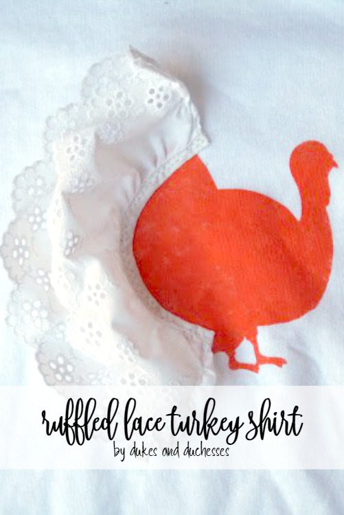 ruffled lace turkey shirt