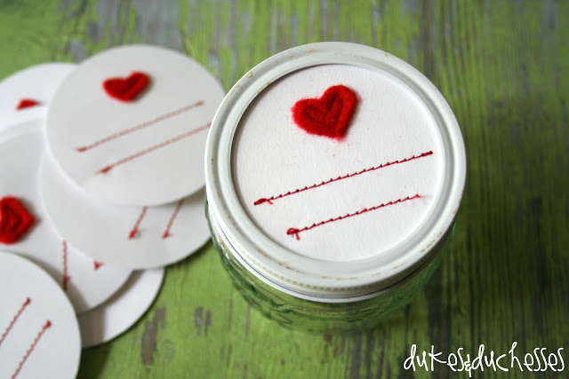 stitched labels for mason jars