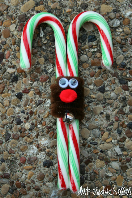 reindeer candy canes #Christmas #party