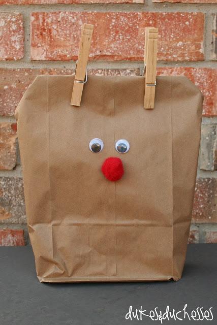 reindeer gift bag #Christmas #party