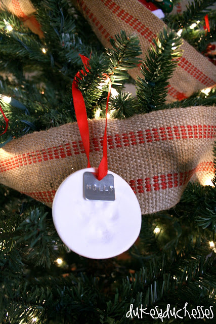 homemade pawprint ornament