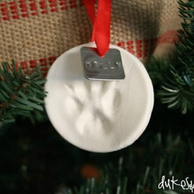 Keepsake Pawprint Christmas Ornament