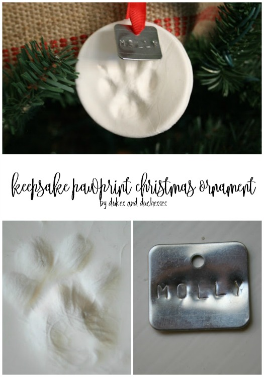 keepsake pawprint christmas ornament