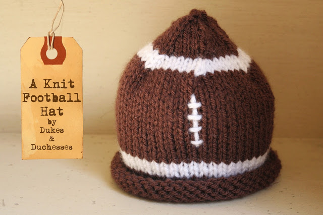 knit baby hat football