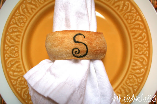 edible napkin rings refrigerated breadsticks
