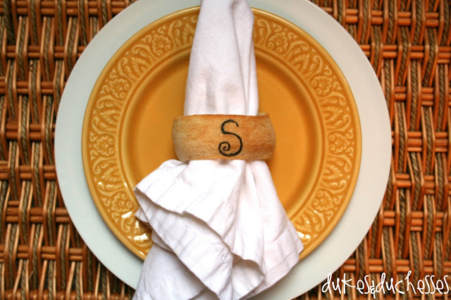 edible napkin rings