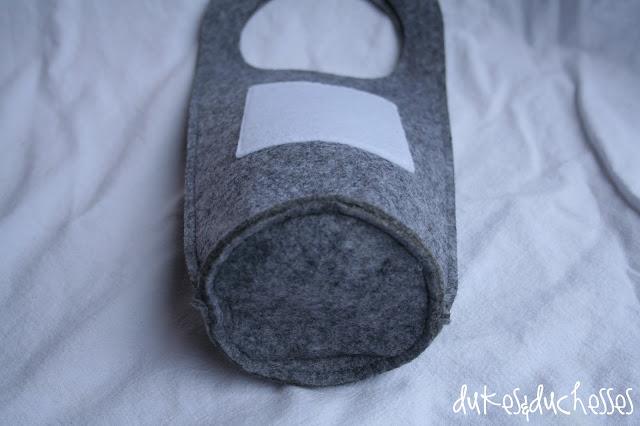 monogrammed felt gift bag