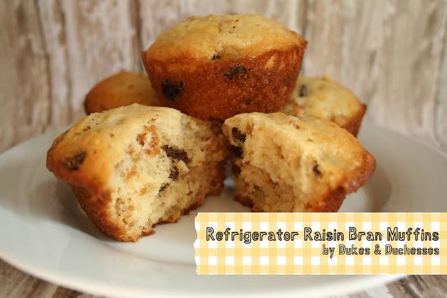 raisin bran muffins refrigerator