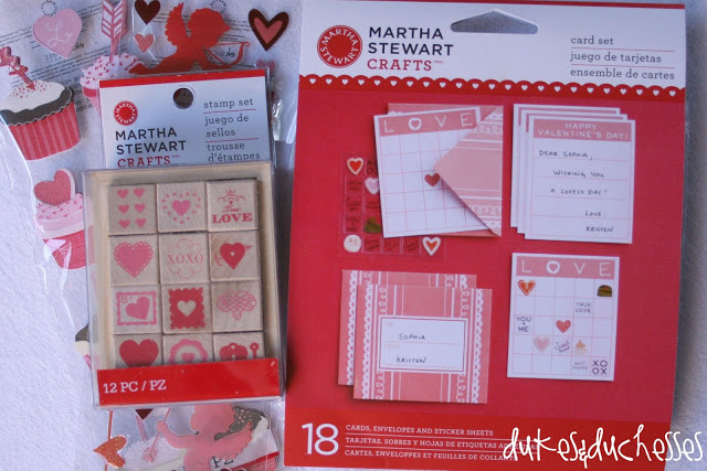Martha Stewart Crafts valentine cards stickers stamp set