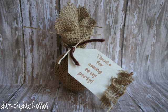 burlap party for teenagers