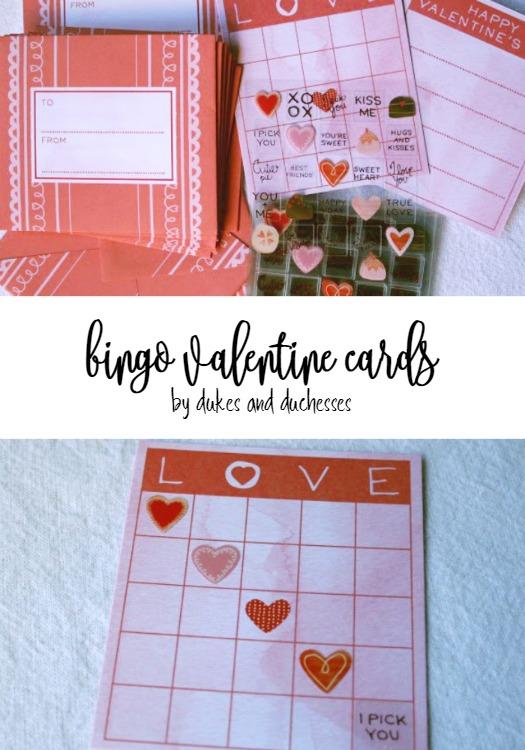bingo valentine cards