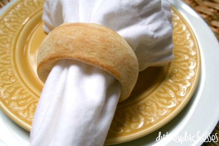 Rustic Bread Dough Napkin Rings
