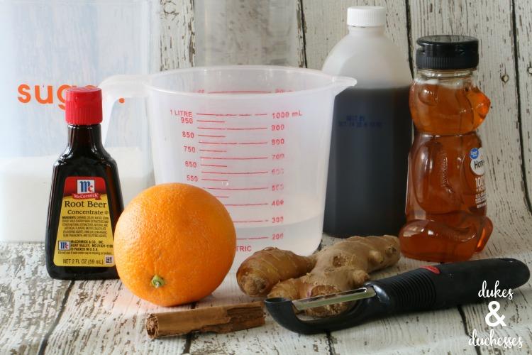 homemade root beer ingredients