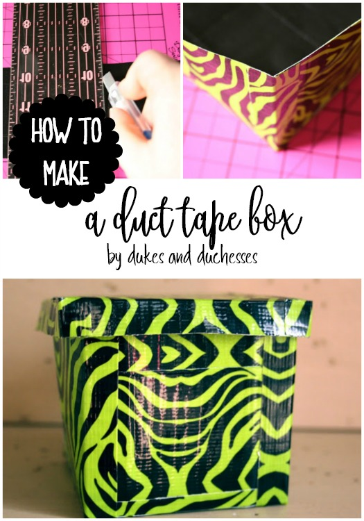 how to make a duct tape box
