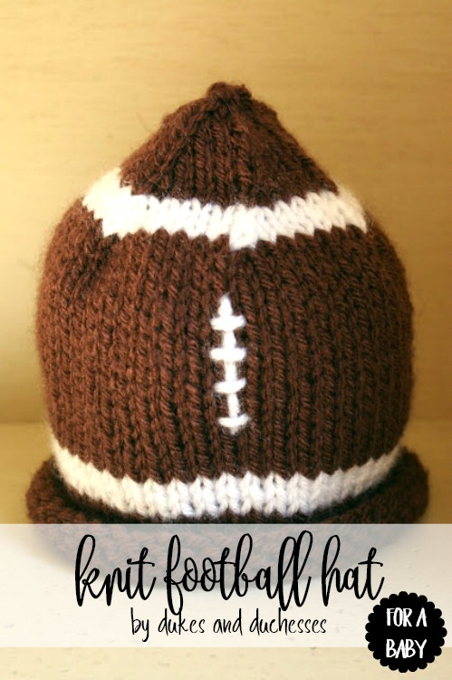 A Knit Football Baby Hat Dukes And Duchesses