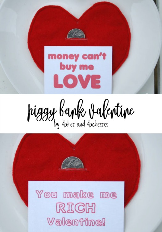piggy bank valentine