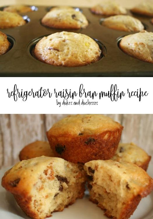 refrigerator raisin bran muffin recipe