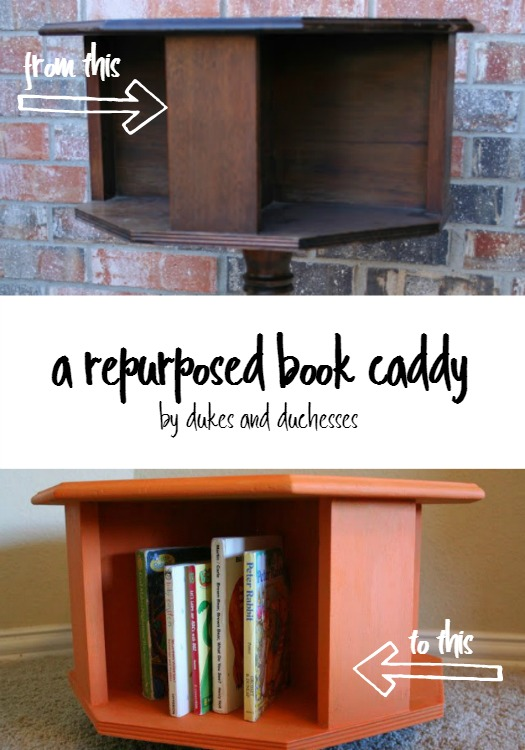 repurposed book caddy