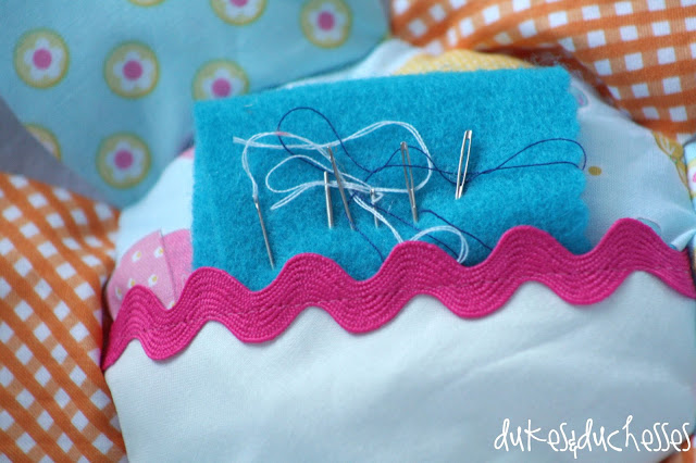 flower pincushion, Riley Blake Designs, Happy Ever After