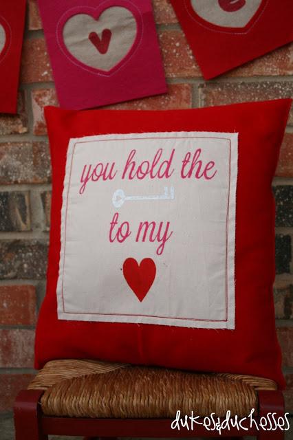 valentine pillow valentine banner DecoArt
