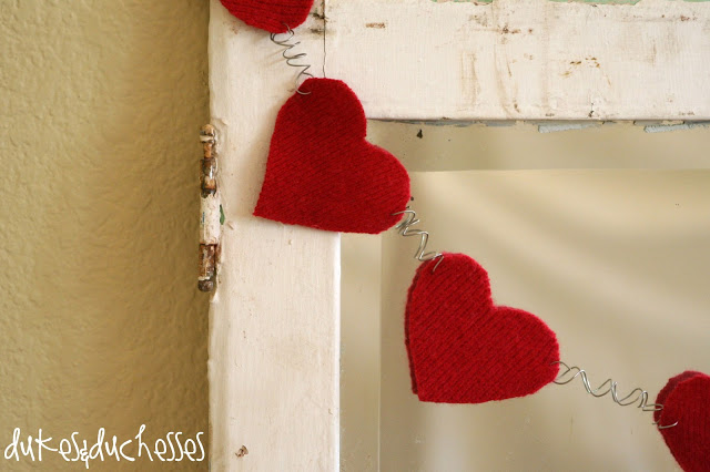Felted Wool Valentine's Day Garland