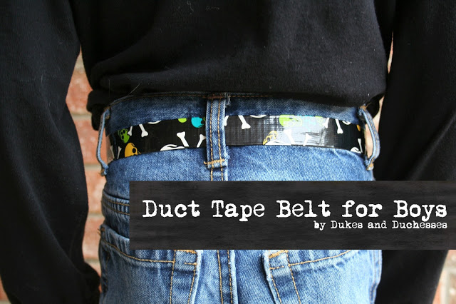 A Duct Tape Belt {for Boys}