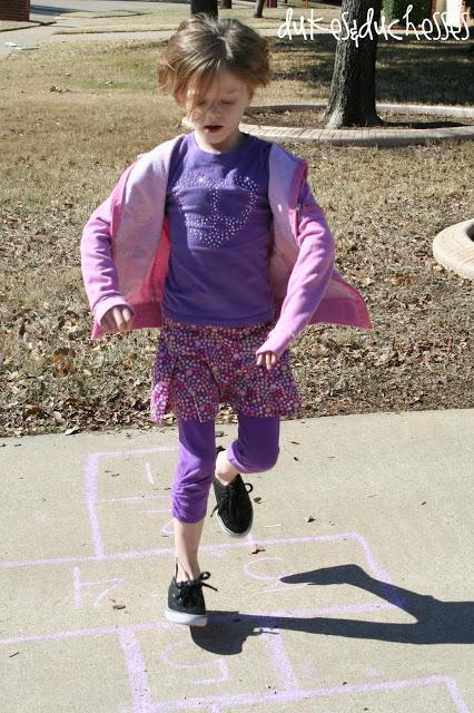 Back to Basics :: Hopscotch {with Homemade Sidewalk Chalk}