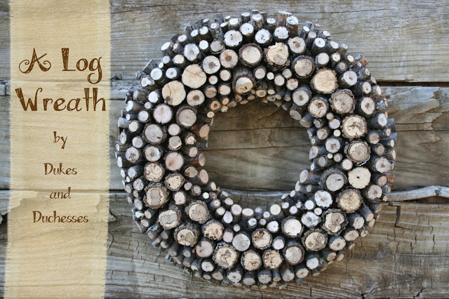 log wreath