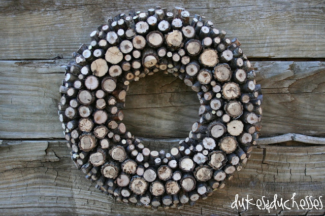 log wreath branch wreath natural elements