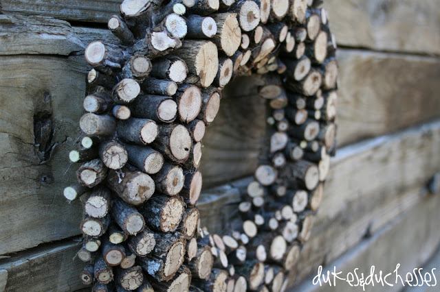 log wreath-branch wreath