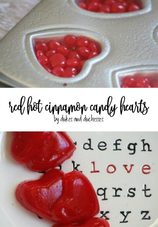 red hot cinnamon candy hearts